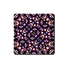 Colorful Tribal Pattern Print Magnet (square) by dflcprints
