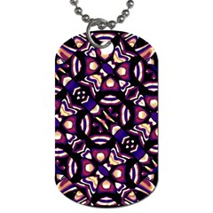 Colorful Tribal Pattern Print Dog Tag (two Sided)  by dflcprints