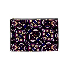 Colorful Tribal Pattern Print Cosmetic Bag (medium) by dflcprints