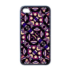 Colorful Tribal Pattern Print Apple Iphone 4 Case (black) by dflcprints