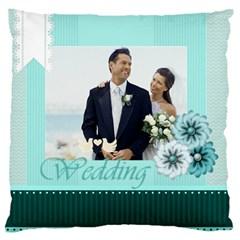 Wedding By Wedding   Large Cushion Case (two Sides)   L44tuo9vwj7u   Www Artscow Com Back