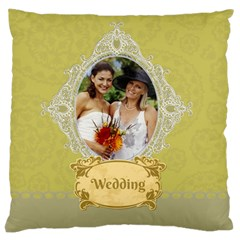 Wedding By Wedding   Large Cushion Case (two Sides)   Ftkb5nh4zru5   Www Artscow Com Back