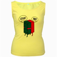 Lego Women s Yellow Tank Top by NEWSHIRTS