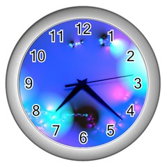 Love In Action, Pink, Purple, Blue Heartbeat 10000x7500 Wall Clock (silver) by DianeClancy
