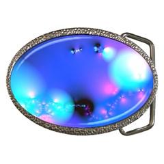 Love In Action, Pink, Purple, Blue Heartbeat 10000x7500 Belt Buckle (oval) by DianeClancy
