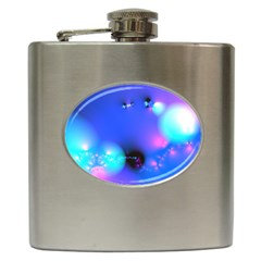 Love In Action, Pink, Purple, Blue Heartbeat 10000x7500 Hip Flask by DianeClancy