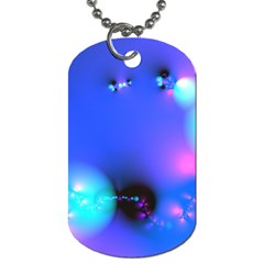 Love In Action, Pink, Purple, Blue Heartbeat 10000x7500 Dog Tag (two Sided)  by DianeClancy