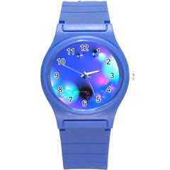 Love In Action, Pink, Purple, Blue Heartbeat 10000x7500 Plastic Sport Watch (small) by DianeClancy