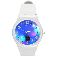 Love In Action, Pink, Purple, Blue Heartbeat 10000x7500 Plastic Sport Watch (medium) by DianeClancy