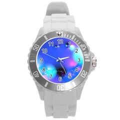 Love In Action, Pink, Purple, Blue Heartbeat 10000x7500 Plastic Sport Watch (large) by DianeClancy