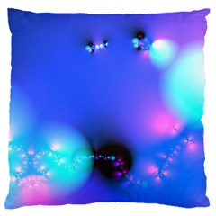 Love In Action, Pink, Purple, Blue Heartbeat 10000x7500 Large Cushion Case (two Sided)  by DianeClancy