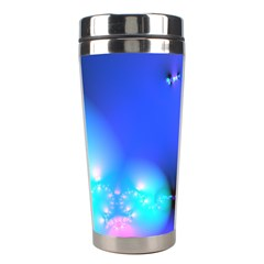 Love In Action, Pink, Purple, Blue Heartbeat 10000x7500 Stainless Steel Travel Tumbler by DianeClancy
