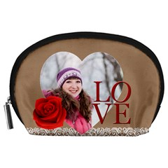 Love By Ki Ki   Accessory Pouch (large)   3e8bozl1vy4q   Www Artscow Com Front
