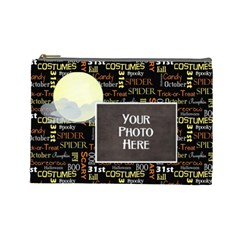 Spooky Lg Cosmetic Bag By Lisa Minor   Cosmetic Bag (large)   Z4st0yu76gay   Www Artscow Com Front