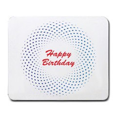 Halftone Circle With Squares Large Mouse Pad (rectangle) by rizovdesign