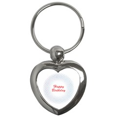 Halftone Circle With Squares Key Chain (heart) by rizovdesign