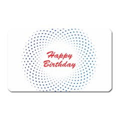 Halftone Circle With Squares Magnet (rectangular) by rizovdesign