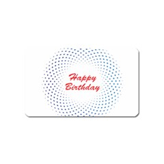 Halftone Circle With Squares Magnet (name Card) by rizovdesign
