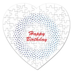 Halftone Circle With Squares Jigsaw Puzzle (heart)