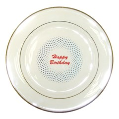Halftone Circle With Squares Porcelain Display Plate by rizovdesign