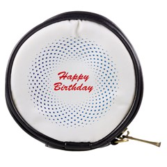 Halftone Circle With Squares Mini Makeup Case by rizovdesign