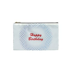 Halftone Circle With Squares Cosmetic Bag (small) by rizovdesign