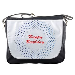 Halftone Circle With Squares Messenger Bag by rizovdesign