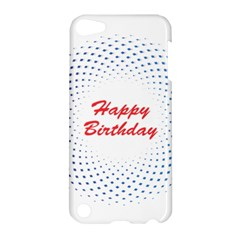 Halftone Circle With Squares Apple Ipod Touch 5 Hardshell Case by rizovdesign