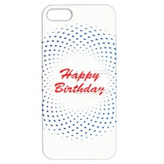 Halftone Circle With Squares Apple Iphone 5 Hardshell Case With Stand