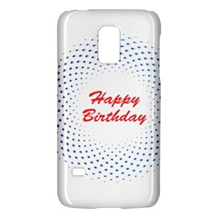Halftone Circle With Squares Samsung Galaxy S5 Mini Hardshell Case  by rizovdesign