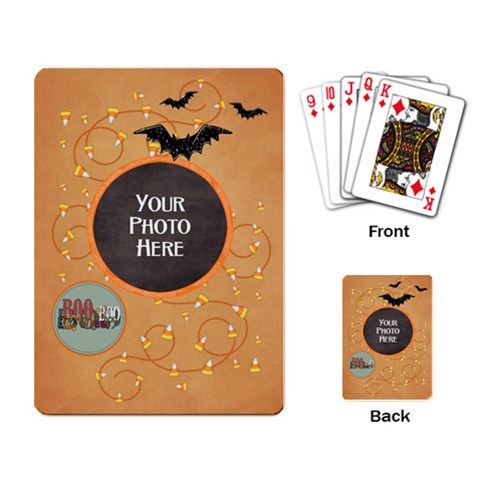 Spooky Playing Cards By Lisa Minor Back