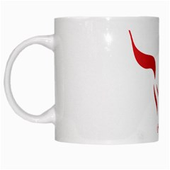 Stylized Symbol Red Bull Icon Design White Coffee Mug by rizovdesign
