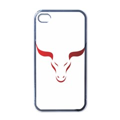 Stylized Symbol Red Bull Icon Design Apple Iphone 4 Case (black) by rizovdesign
