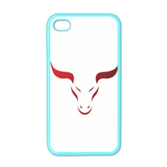 Stylized Symbol Red Bull Icon Design Apple Iphone 4 Case (color) by rizovdesign