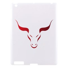 Stylized Symbol Red Bull Icon Design Apple Ipad 3/4 Hardshell Case by rizovdesign
