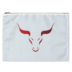 Stylized Symbol Red Bull Icon Design Cosmetic Bag (xxl) by rizovdesign