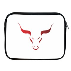 Stylized Symbol Red Bull Icon Design Apple Ipad Zippered Sleeve by rizovdesign