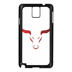 Stylized Symbol Red Bull Icon Design Samsung Galaxy Note 3 N9005 Case (black) by rizovdesign