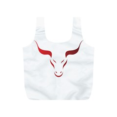 Stylized Symbol Red Bull Icon Design Reusable Bag (s) by rizovdesign