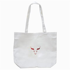 Stylized Symbol Red Bull Icon Design Tote Bag (white) by rizovdesign