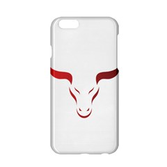 Stylized Symbol Red Bull Icon Design Apple Iphone 6 Hardshell Case by rizovdesign