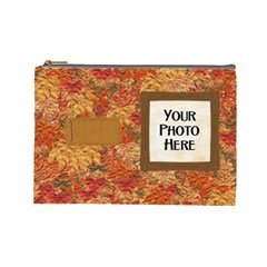 Ode To Autumn Large Cosmetic Bag By Lisa Minor   Cosmetic Bag (large)   Turu8in6q4p5   Www Artscow Com Front