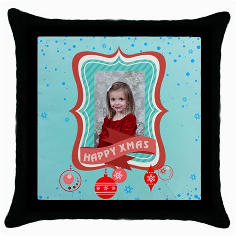Xmas By Xmas   Throw Pillow Case (black)   Lv1alstnrdvy   Www Artscow Com Front