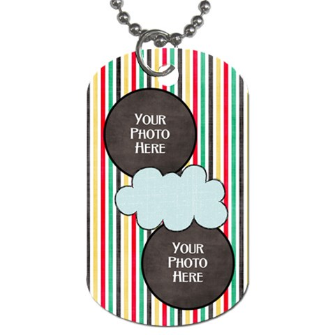 Lively Dog Tag By Lisa Minor   Dog Tag (one Side)   Wh95gv3uu24h   Www Artscow Com Front