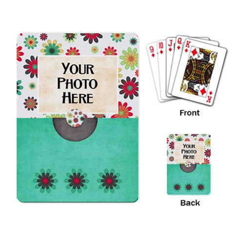Lively Playing Cards By Lisa Minor   Playing Cards Single Design   5bhdm2djdub3   Www Artscow Com Back