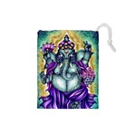 Ganesha Coriander Shea 450dpi JPG Drawstring Pouch (Small)
