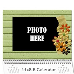 2015 Tangerine Breeze Calendar By Lisa Minor   Wall Calendar 11  X 8 5  (12 Months)   V7n9prspv5n9   Www Artscow Com Cover