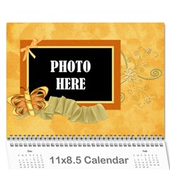 2015 Tangerine Breeze Calendar 1 By Lisa Minor   Wall Calendar 11  X 8 5  (12 Months)   30pgcehq4q9h   Www Artscow Com Cover