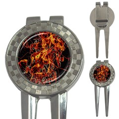 On Fire Golf Pitchfork & Ball Marker by dflcprints