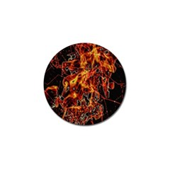 On Fire Golf Ball Marker 4 Pack by dflcprints